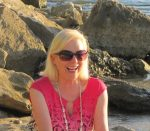 Hawaii, Paradise Isle, Margie on Rocks, laughing